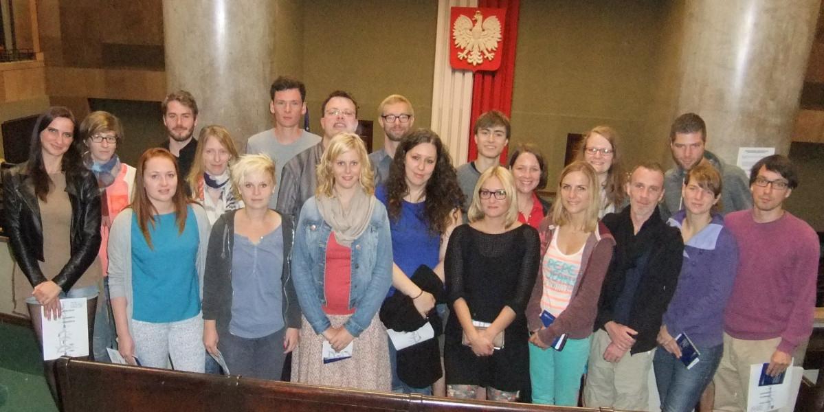Exkursionsgruppe nach Warschau