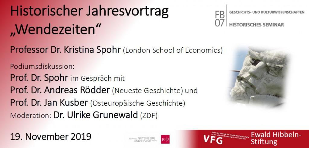 """Jahresvortrag 2019: """"Wendezeiten"""""""